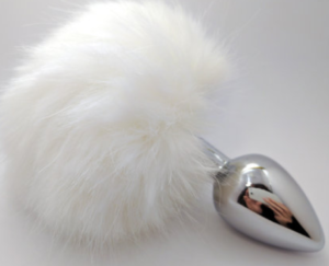 metal butt plug with rabbit tail