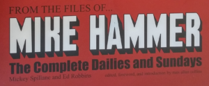 "crop shot from the cover of ""From The Files Of Mike Hammer"""