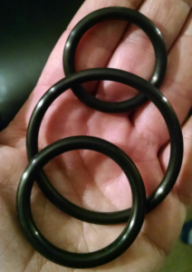 three concentrically graduated cock rings