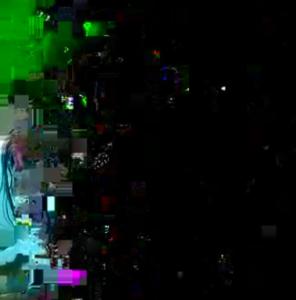 pixelated blur representing visual static