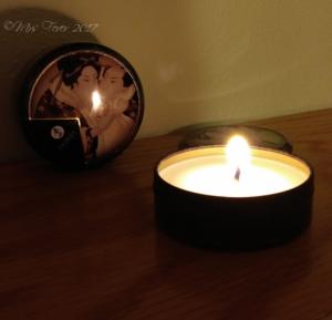 Shunga massage candle burning