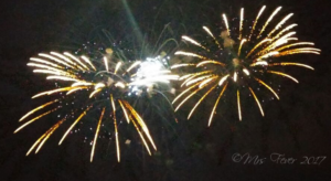 twin fireworks boom