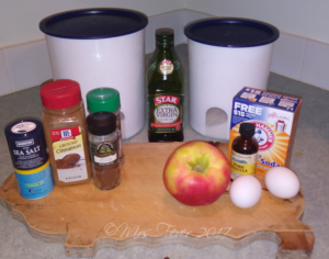 ingredients for apple spice bread